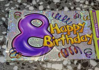 8 Cumpleaños. 3 Banners