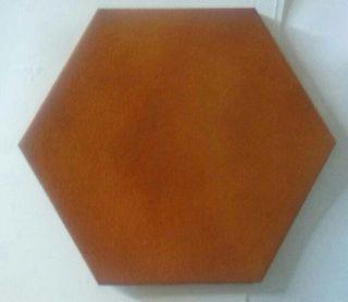 Baldosa, azulejo hexagonal.