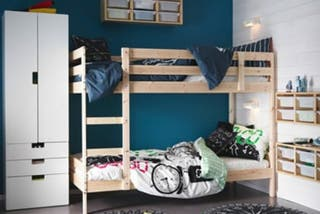 Cama litera de madera maciza IKEA