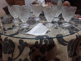 6 copas de elado gruesa sin uso solo de adorno