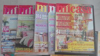 diferentes revistas de decoración de 1996 al 2000