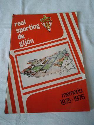 89-MEMORIA REAL SPORTING DE GIJON 1975/76 segunda mano  España