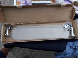 balda acero y cristal baño dos cristales