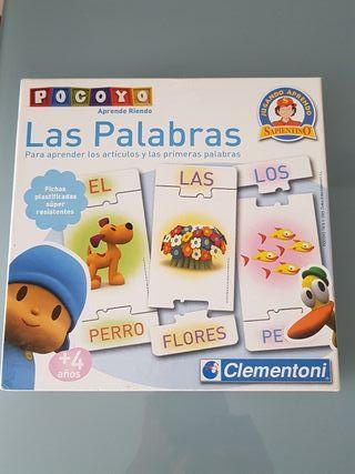 """Juego de mesa """"Las palabras"""" de Pocoyo."""
