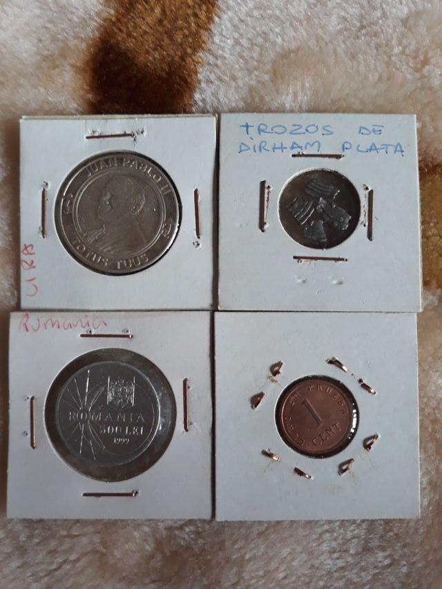 Lote de 4 monedas