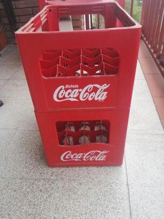 conjunto cajas cocacola
