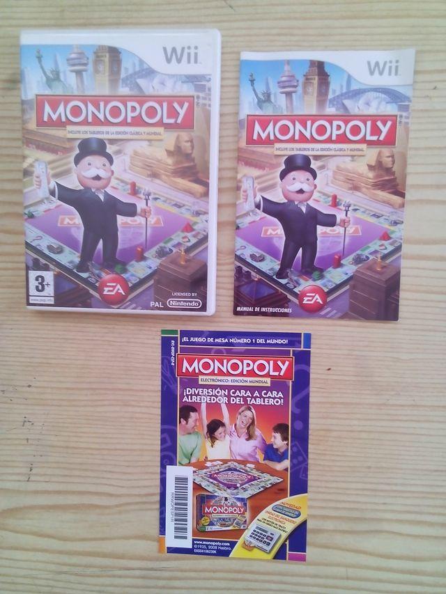 Nintendo Wii Monopoly Caja E Instrucciones Sin De Segunda Mano