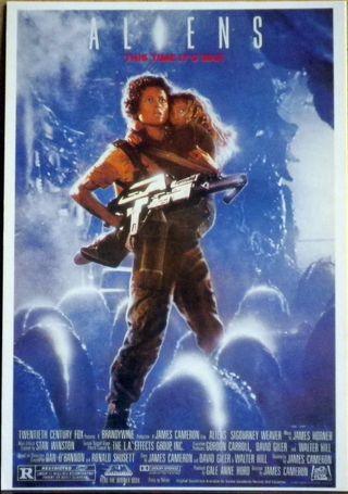 Aliens Postal de la película