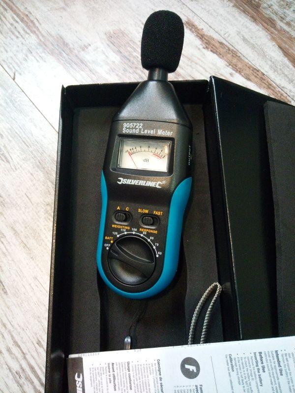 medidor de sonido analogico