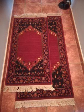 Bonito juego de alfombras de tres de lana virgen