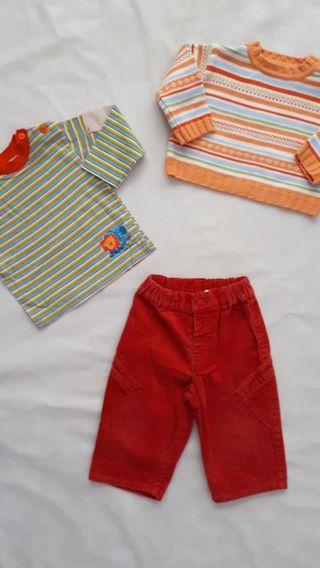 conjunto 6-9 meses. ropa bebe niño invierno
