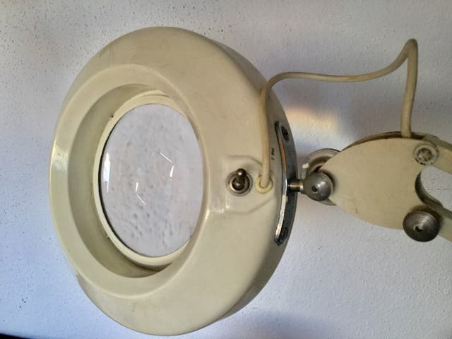 Lámpara lupa vintage