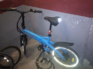 Bici eléctrica plegable Torrot Citysurfer azul