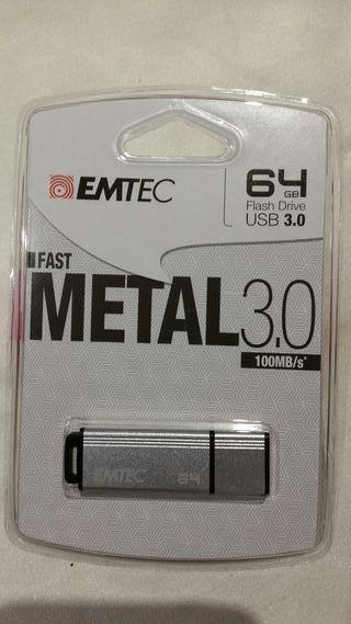 Unidad flash USB de 64 gb de EMTEC S800 Metal 3.0