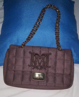 """bolso de hombro con logo """"love moschino"""""""