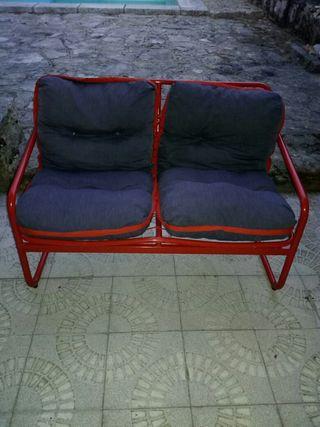 Sofa dos pzas plegable