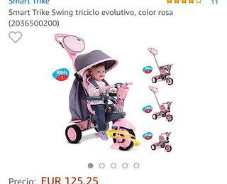 Smart Trike Swing triciclo evolutivo color rosa