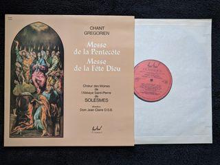 """Disco de vinilo """"Chant Gregorien Canto gregoriano"""""""