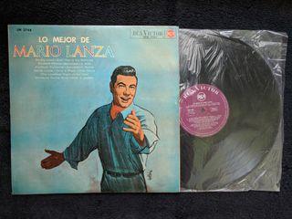 """Disco de vinilo """"Lo mejor de Mario Lanza"""""""