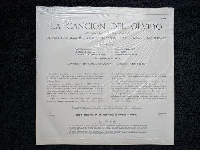 """Disco de vinilo NUEVO """"La canción del olvido"""""""