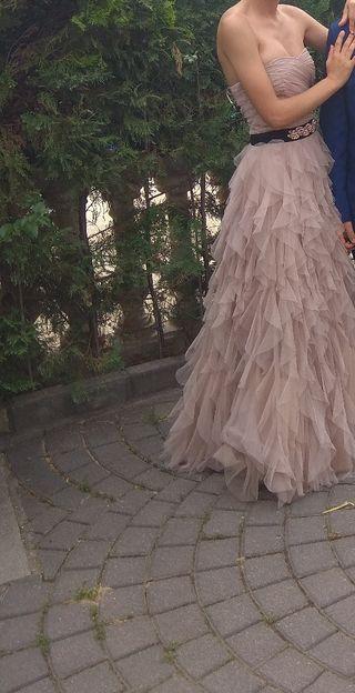 vestido de fiesta rosa palo naf naf