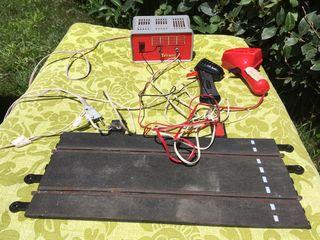 Transformador y mandos de Scalextric