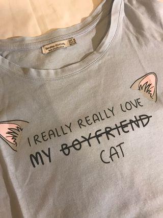 Camiseta mensaje Cat