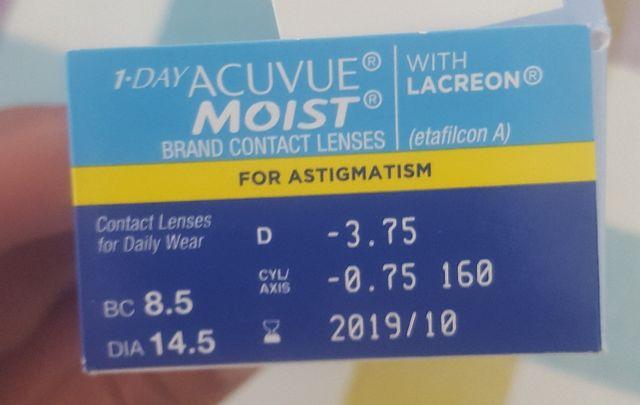 8401a6965b17f Lentillas Diarias Miopía y Astigmatismo (36) de segunda mano por 20 ...