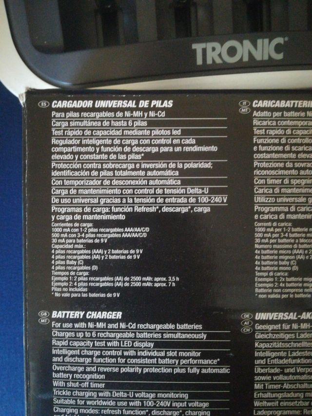 cargador de pilas universal TRONIC