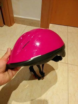 Casco infantil color rosa Decathlon