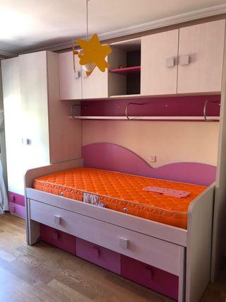 Dormitorio juvenil 2 camas nido