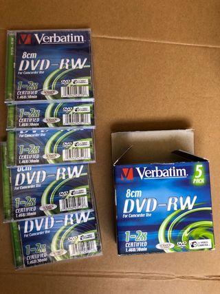 5 DVD-RW Verbatim 8cm