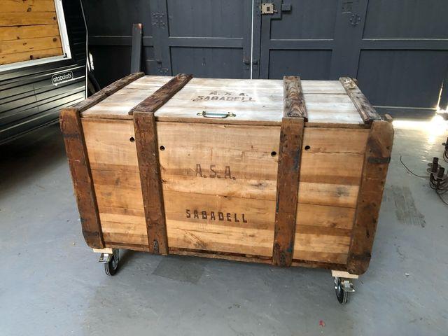 Ba les antiguos de madera de segunda mano por 300 en el prat de llobregat en wallapop - Baules antiguos ...