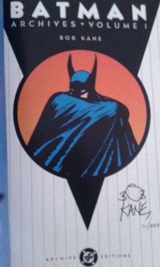 Comic Batman firmado Bob Kane