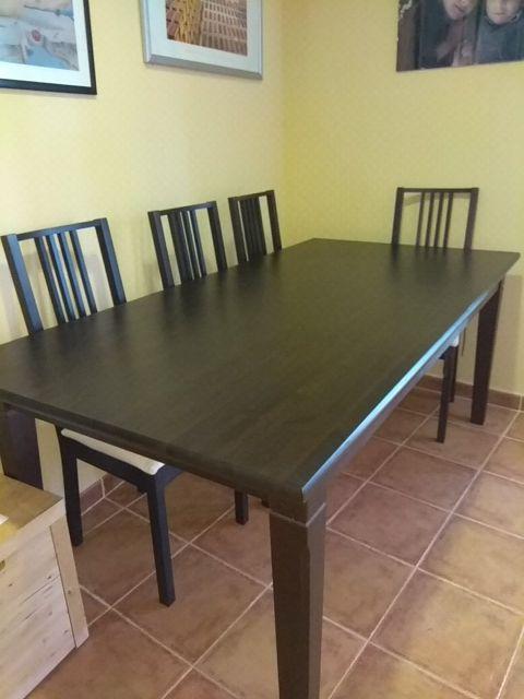 Juego de mesa y 6 sillas comedor Ikea de segunda mano por 225 € en ...