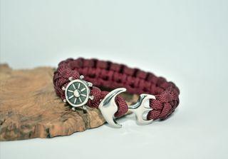 1 pulsera de LovelyCord con acero inoxidable