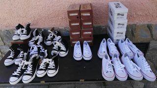 CHOLLAZO. Lote 137 menorquinas, lona e inglesitas
