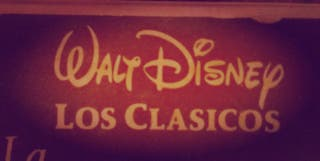 vídeo VHS de Disney original