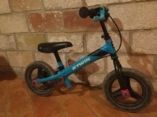 Bicicleta infantil sin pedales - Azul