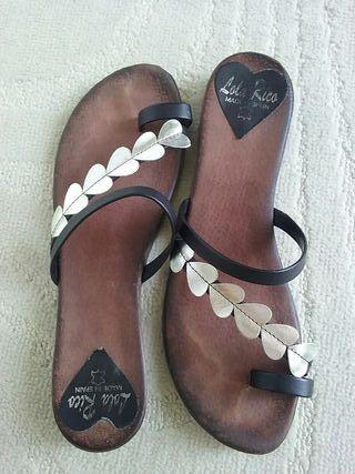 sandalias de piel. talla38-37