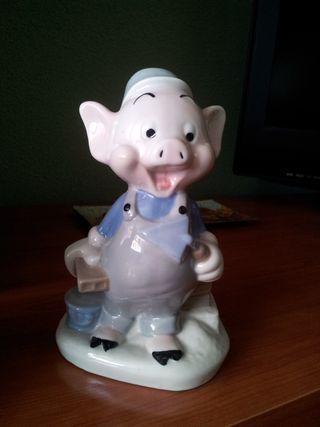 figura porcelana Disney Los tres cerditos
