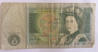 Bank of England one pound Elizabeth billet