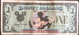 One Disney Dollar Mickey Mouse 1987!