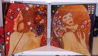 par de cuadros Klimt