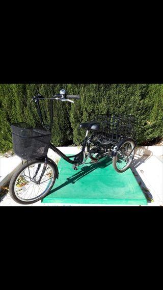 Bicicleta tres ruedas adulto. Triciclo