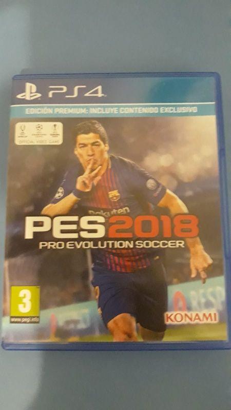 Juego Ps4 Pro Evolution Soccer 2018 De Segunda Mano Por 15 En