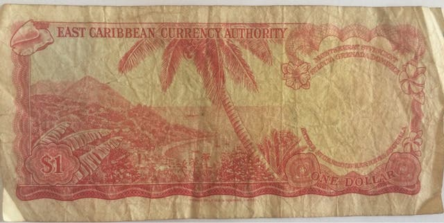 East Caribbean currency one dollar 1965