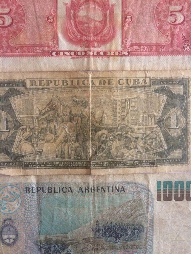 3 billets collection. Ecuador/ Cuba/ Argentina