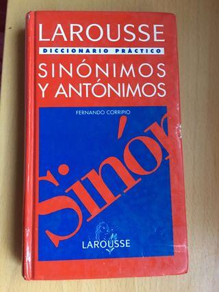 Diccionario sinónimos y antónimos LAROUSSE