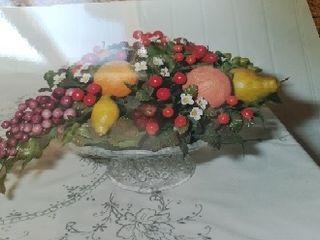 Bodegón de frutas hecho a mano con masa